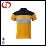 Chemise de polo de loisirs de tissu de Cottom d'hommes avec la qualité