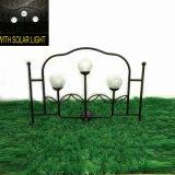 Загородка сада с украшением металла стеклянного шарика 3 солнечным светлым