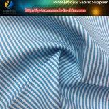 最も新しいワイシャツのためのT/Cのヤーンによって染められる縞によって編まれるファブリック、普及したあや織りの縞のワイシャツファブリック