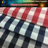 Tela teñida hilado de la camisa, tela de la camisa del T/C, tela de la verificación