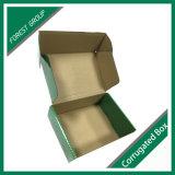 Impressão feita sob encomenda de superfície lustrosa caixa de envio pelo correio corrugada
