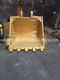 Cubeta padrão da máquina escavadora, cubeta resistente com dentes e adaptador
