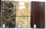 PVC caldo di colore del marmo e di legno di vendita che fiancheggia cornicione di modellatura
