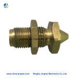 Vis hexagonales de cuivre spécialisées avec pièces détachées CNC usinées