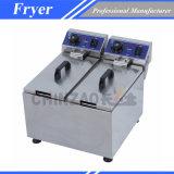 Machine de friteuse de poissons de réservoir de double d'homologation de la CE