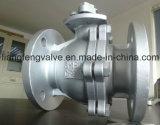 robinet à tournant sphérique 2PC d'extrémité de bride avec l'acier inoxydable