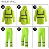 Safety High Visibility Reflective Raincoat Traffic Clothing Uniforme de vêtements de travail
