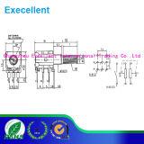 Potenziometro dell'asta cilindrica del metallo con il formato di 20mm ed il potere Rated 0.1W