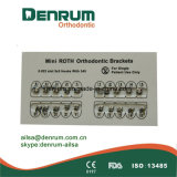 Corchetes ortodónticos del metal de Denrum