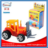 El bloque de DIY tira del juguete de la educación del carro del ingeniero con el caramelo