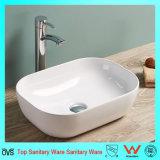 Gesundheitliches Ware-Badezimmer-keramisches dünnes Rand-Wäsche-Handbassin