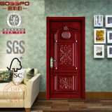 Puertas talladas puerta lujosa de madera sólida del chalet del estilo (GSP2-005)