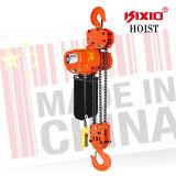 alzamiento de cadena eléctrico 15t con el equipo de elevación de la construcción del gancho de leva