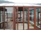 Puerta de plegamiento de cristal doble Tempered grande de aluminio de As2047&CSA
