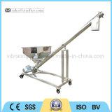 Transportador de parafuso flexível de aço inoxidável convexo inclinado