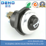 LED que traba el tipo interruptor de pulsador plano impermeable del metal