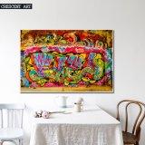 2017 nueva pintura al óleo abstracta del arte de la pared de la calle de la pintada