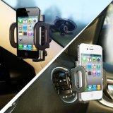 2-in-1 aseguran el teléfono GPS completado, sostenedor ajustable del montaje del coche del teléfono móvil de los apretones