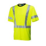 T-shirt elevados da visibilidade da tela de Class3 Jersey