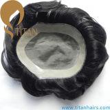 Virgin Human Hair Natural Style Hommes en dentelle Toupee