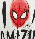 Camisa impressa Spiderman de T do menino feito sob encomenda