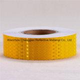 PVCネオン黄色い蜜蜂の巣の付着力の反射鏡の注意テープ(C3500-FY)