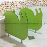 Beautiful Small Size Toilet Division Partition for Children/HPL Partition