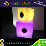 Bluetooth Controle Música Jogando cadeira LED RGB Cube Lighting com Bluetooth Speaker