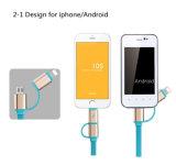Einziehbare 2 in 1 MikroUSB+Lightning Daten-Synchronisierungs-Aufladeeinheit iPhone Android-Kabel