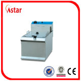 6L Industry Fryer for Sale, Aster 2 Tank 2 Basket Fryer elétrico com filtro Hot no Brasil Malaysia Philipines