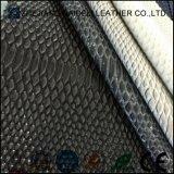 Cuoio di cuoio artificiale dell'unità di elaborazione del PVC del reticolo del serpente per i pattini/sacchetti/tappezzeria della mobilia e del sofà