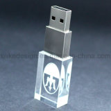 Slanke Type Crystal LED USB Flash Drive met 3D Logo (ul-C001)