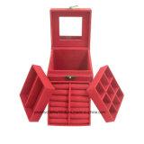 Caja de joyería de almacenamiento de gabinete organizador de pie collar de pecho armario del gabinete de espejo