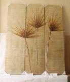 Листья ладони 3 части картины декоративной холстины дома картины вися