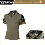 新しい5枚のカラー戦術的な軍の短い袖の戦闘のカエルのTシャツ