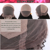 Парик шнурка естественных черных человеческих волос девственницы объемной волны индийских полный