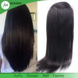 Cheveu 100% noir normal de Brésilien de couleur de perruque de face de lacet de cheveu de Remy