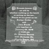 Invitations personnalisées de mariage en acrylique, invitations spéciales