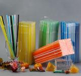 Caja de PVC de alta calidad de pic plástico pajas de beber flexible