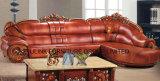 Sofá casero moderno del hogar de la sala de estar del cuero de los muebles (UL-NS088)