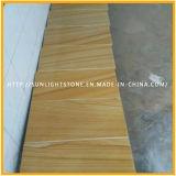 Honed madera amarillo Vena piedra arenisca por pared / suelo Azulejos