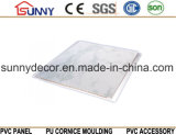 Panneau de marbre intérieur de PVC de modèle, usine de marbre intérieure de plafond de PVC de Desgn