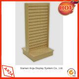 Decorativo de madera al por menor Slatwall soporte de exhibición del listón pared de suelo