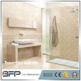 カスタマイズされたサイズのベージュTravertineのタイルの装飾的な台所壁のタイル