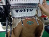 Wonyo 1 tipo capo testa automatizzata piana della maglietta e della protezione della Cina di prezzi della macchina del ricamo singola