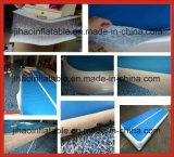 Couvre-tapis bleu de Dwf et blanc gonflable durable de gymnastique pour l'exercice