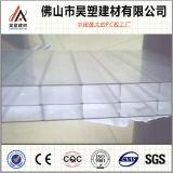 Folha direta da cavidade do policarbonato da Tiwn-Parede de Brown da fábrica de Foshan China para a estufa de Agricuture e a vertente da criação de animais