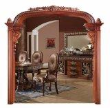 Marco de la decoración de interiores puerta de la ventana de madera de moldeo (GSP17-006)