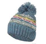 冬の帽子のアクリルのジャカード帽子の帽子のカスタムニットの帽子POM POMの帽子の帽子