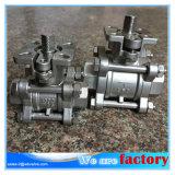 шариковый клапан 3PC с типом ISO 5211 железы пусковой площадки установки